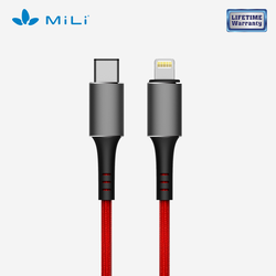 Cáp Braided C to Lightning MiLi siêu bền - Lifetime warranty - HI-L90 - HI-L90