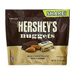 KẸO SOCOLA HERSHEY'S NUGGETS MILK CHOCOLATE WITH ALMONDS 286 GR