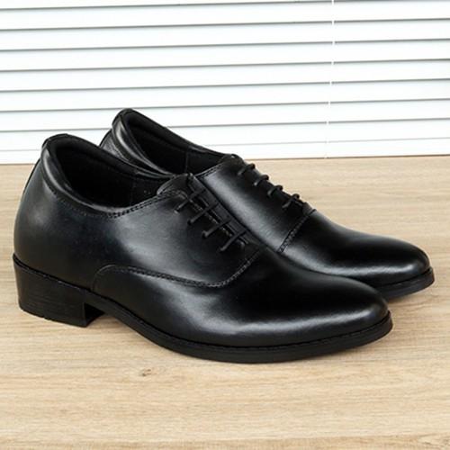 Giày công sở nam - giày công sở nam tăng chiều cao s11012 đen cao 8cm