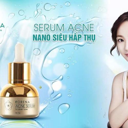 Serum trị mụn nano siêu hấp thụ korena cosmetics