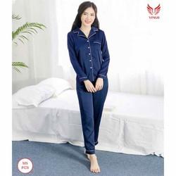 bộ pijama nữ phi bóng kẹp viền siêu cute