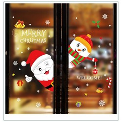 Decal 2 Mặt Trang Trí Noel Ông Già Noel Và Người Tuyết 3