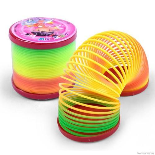Đồ chơi lò xo nhựa nhiều màu sắc xinh xắn cho bé