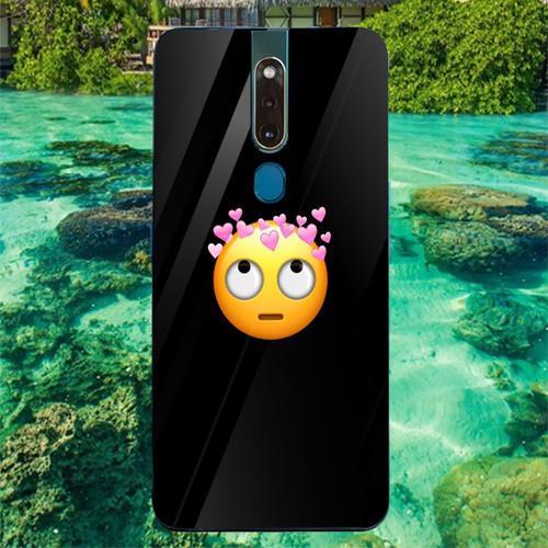 Ốp điện thoại kính cường lực cho máy oppo f11 pro - emoji kute ms emjkt049