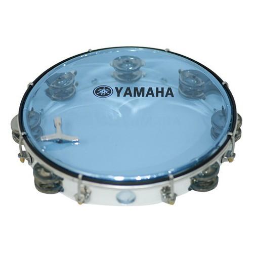Trống lắc tay lục lạc gõ bo inox tambourine yamaha mt6 102b màu xanh