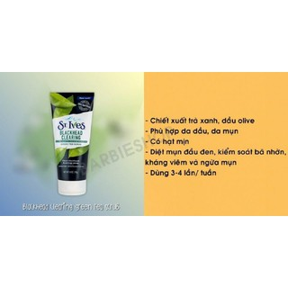 .Sữa rửa mặt tẩy tế bào chết St.Ives Acne Control Apricot Scrub - Da mụn da dầu - dmst1 thumbnail