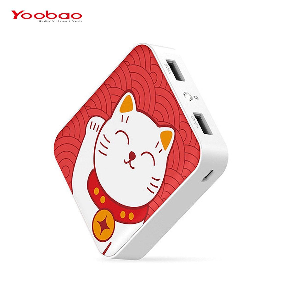 Pin dự phòng YOOBAO 10.400mAh Hình mèo chiêu tài đèn LED YB-6024 - Hàng Chính hãng - YB-6024