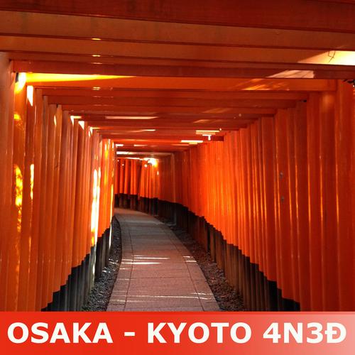 Tour 4n3đ nhật bản: kansai - osaka - kyoto