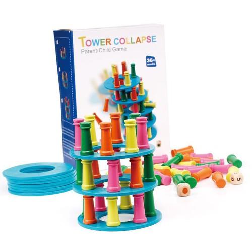 Đồ chơi gỗ tháp pisa cho bé yêu