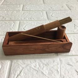 Bộ đốt trầm 3 món gỗ hương TẶNG 10g trầm cao cấp - pcs19