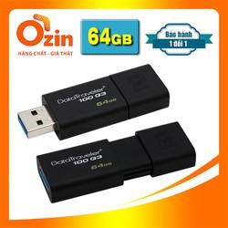 USB KT DT100 G3 64GB 32 GB USB 3.0 - Tem FPT Vĩnh xuân
