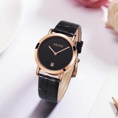 Trợ giá khủng đồng hồ nữ guou 8127 dây da cao cấp chính hãng thiết kế đơn giản sang trọng cao cấp full box