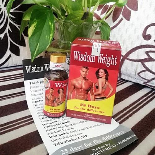 [Hàng chính hãng] combo 2 hộp tăng cân wisdom weight-hỗ trợ ăn ngon, ngủ tốt, bổ sung vitamin và hàm lượng protein cao. vitamin k và soyblecethin giúp hệ thống tiêu hóa khỏe mạnh và tăng cân an toàn
