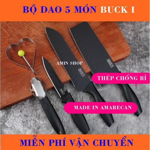 Bộ dao 5 món buck i xuất xứ chính hãng amarecan mỹ, thép chống rỉ sét ăn mòn, sắt bén, cắt thái thực phẩm cực kỳ tốt. - 20596565 , 23507883 , 15_23507883 , 150000 , Bo-dao-5-mon-buck-i-xuat-xu-chinh-hang-amarecan-my-thep-chong-ri-set-an-mon-sat-ben-cat-thai-thuc-pham-cuc-ky-tot.-15_23507883 , sendo.vn , Bộ dao 5 món buck i xuất xứ chính hãng amarecan mỹ, thép chống rỉ