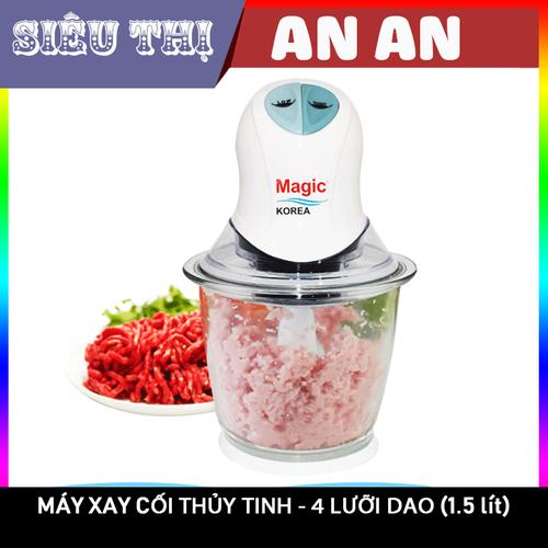 Máy xay thực phẩm đa năng cối thủy tinh 04 lưỡi dao magic korea 1 5 lít có thể xay sinh tố xay thịt xay hạt xay đá - 21225142 , 24422974 , 15_24422974 , 373000 , May-xay-thuc-pham-da-nang-coi-thuy-tinh-04-luoi-dao-magic-korea-1-5-lit-co-the-xay-sinh-to-xay-thit-xay-hat-xay-da-15_24422974 , sendo.vn , Máy xay thực phẩm đa năng cối thủy tinh 04 lưỡi dao magic korea 1