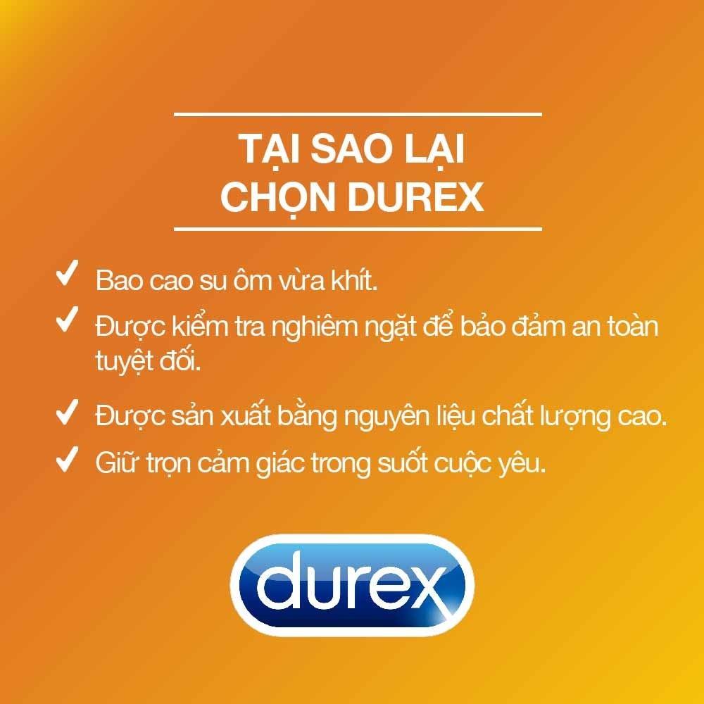 Combo 4 hộp Bao cao su Durex Performa - Invisible - Fetherlite - Kingtex