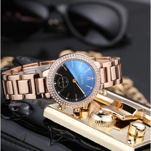 Trợ giá khủng sản phẩm chính hãng đồng hồ nữ guou 8141 thiết kế mặt sang trọng cao cấp full box