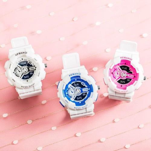 Tặng hộp + pin đồng hồ - đồng hồ thời trang nam nữ kemanqi mẫu siêu đẹp sc665