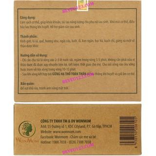 Hộp 2 túi xông toàn thân thảo dược cho Mẹ sau sinh - WonMom - TAM03 4