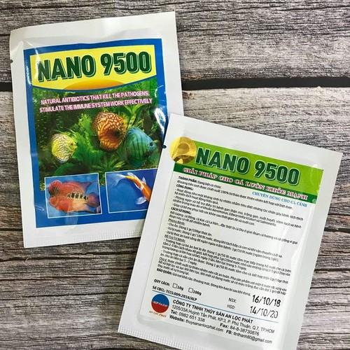 Nano 9500 tăng cường đề kháng giúp cá khỏe ít bệnh - guppy xanh