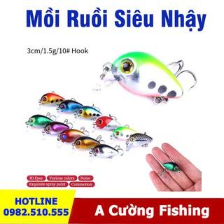 Combo 10 Mồi Ruồi Câu Cá - Chuyên bắt cá rô phi, rô ta, chuối, lóc, sộp, thiểu, ngão, chim - Combo 10 Mồi Ruồi Câu Cá thumbnail