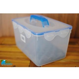 Hộp chống ẩm máy ảnh 8L có tay cầm kèm ẩm kế điện tử gắn sẵn và hút ẩm xanh [ĐƯỢC KIỂM HÀNG] 24183864 - 24183864 thumbnail
