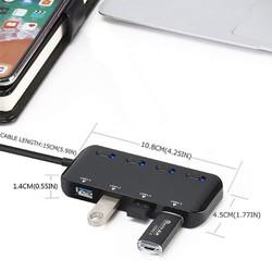 Bộ chia cổng usb untra slim 3.0.   Hub USB 4 Cổng có công tắc,