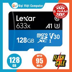 Thẻ nhớ Micro SD lexar 128GB 64GB UHS-I 633x U1 95Mb video 4k