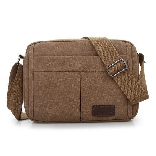 Túi đeo chéo túi đeo vai nam 18x25cm chất liệu vải kaki siêu bền chống nước thiết kế đa năng