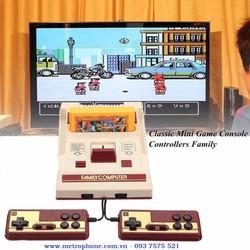 Máy chơi game điện tử 4 nút có sẵn băng game và khuyến mãi thêm băng game 500 trò