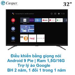 Smart Tivi Casper 32 inch 32HG5000 - Điều khiển Giọng nói, Trợ lý Google, Bluetooth