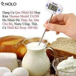 Dụng Cụ Que Nhiệt Kế Hợp Kim Thermo Model TA288 Đo Nhiệt Độ Thức Ăn, Sữa Cho Bé, Nước Uống, Thịt, Cá Thiết Kế Xoay 180 Độ