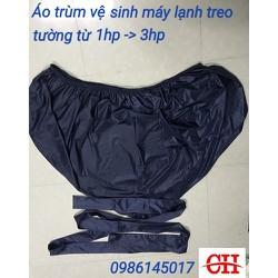 Áo trùm - Túi bạt 1m7 vệ sinh bảo dưỡng điều hoà - máy lạnh có đuôi