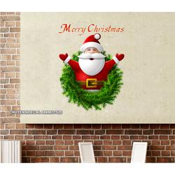 Decal trang trí tường Noel - Ông già Noel sắc nét mini
