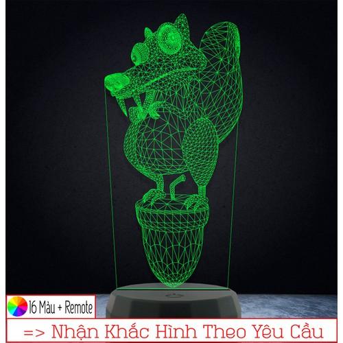 Đèn led 3d trang trí kỷ băng hà – qùa tặng độc đáo, đèn trang trí, đèn để bàn, đèn phòng ngủ, thiết kế khắc hình theo yêu cầu