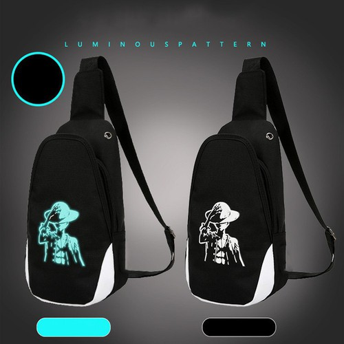 Túi đeo chéo vải phát sáng chống trầy xước phong cách hàn quốc tích hợp tai nghe
