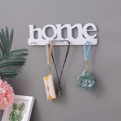 Móc gỗ treo tường Home 4 móc, Gỗ PVC chống thấm