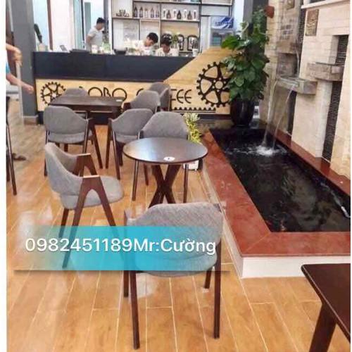 Bộ bàn ghế gỗ cafe