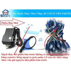 Bộ Mạch Nháy Theo Nhạc 50 LED IC1903 Full