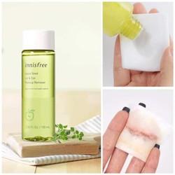 Tẩy trang mắt môi innisfree apple seed lip & eye remover.