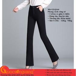 Quần nữ công sở cotton quần ống loe co giãn 4 chiều GLQ144