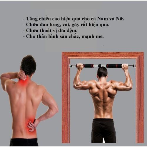 .Xà đơn treo tường gắn cửa đa năng độ dài tùy chỉnh giúp bạn tập gym