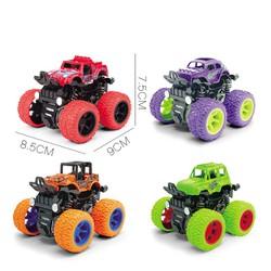 Xe ô tô, xe địa hình đồ chơi quán tính, bánh đà cho bé nhiều màu sắc ngẫu nhiên chất liệu nhựa an toàn cho bé