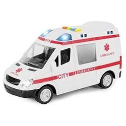 Đồ chơi Mô hình xe cấp cứu Wenyi có đèn và âm thanh tỷ lệ 1:16