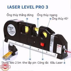 Thước đo + Thước đo Laser đa năng Levelpro3 – Thước đo laze siêu chuẩn -TDNNCL001