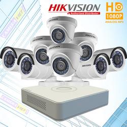 Trọn bộ 8 mắt camera quan sát Hikvision 2.0 megapixel Full HD 1080P vỏ thép - Kèm ổ cứng 1TB cùng đầy đủ phụ kiện khác