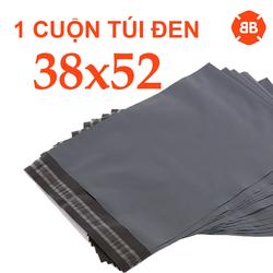 Ở ĐÂY RẺ NHẤT 100 Túi = 1 CUỘN, Túi đóng gói hàng màu ĐEN size 38x52cm thay thế túi xi măng giá rẻ Hà Nội