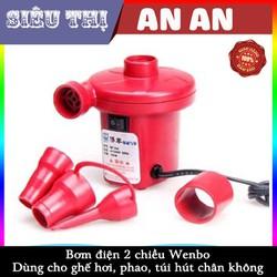 Bơm điện 2 chiều Wenbo Dùng cho ghế hơi, phao, túi hút chân không