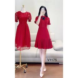 HOT Váy đầm dự tiệc thiết kế maggo Nhật mềm mịn không bai không xù thấm hút tốt V1175 Mie Design kèm ảnh thật