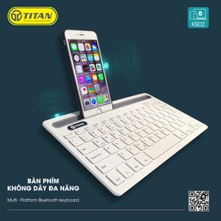 Bàn Phím Bluetooth TITAN KB02 - Bảo hành 12 tháng 1 đổi 1 - TT-KB02 thumbnail